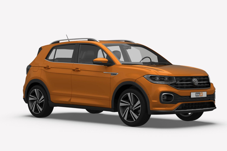 Der Volkswagen T-Cross ist ein beliebter SUV, der von vielen Fahrern auch als Hundeauto genutzt wird. Wir zeigen euch das passende Autozubehör für Hundefreunde! © Travall