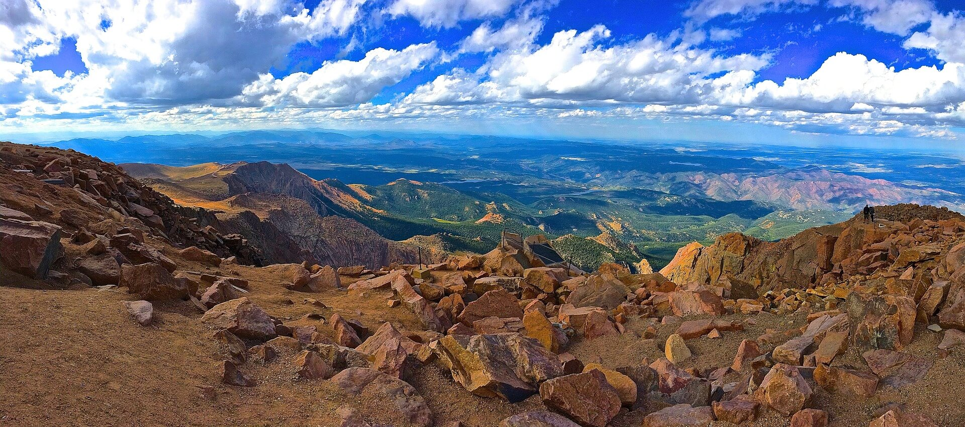 The summit of Pikes Peak, Colorado, USA