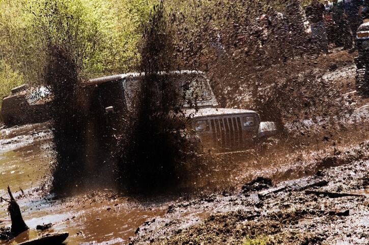 jeep wrangler in mud